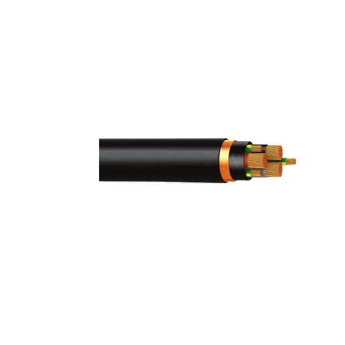 0.6 / 1 KV 3 CORES+3 EARTH Copper Tape Screened Power Cable To IEC60502