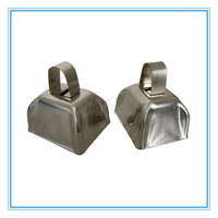 Most Popular Basic Type Unpainted Color 3 Inch Metal Cowbell For Events