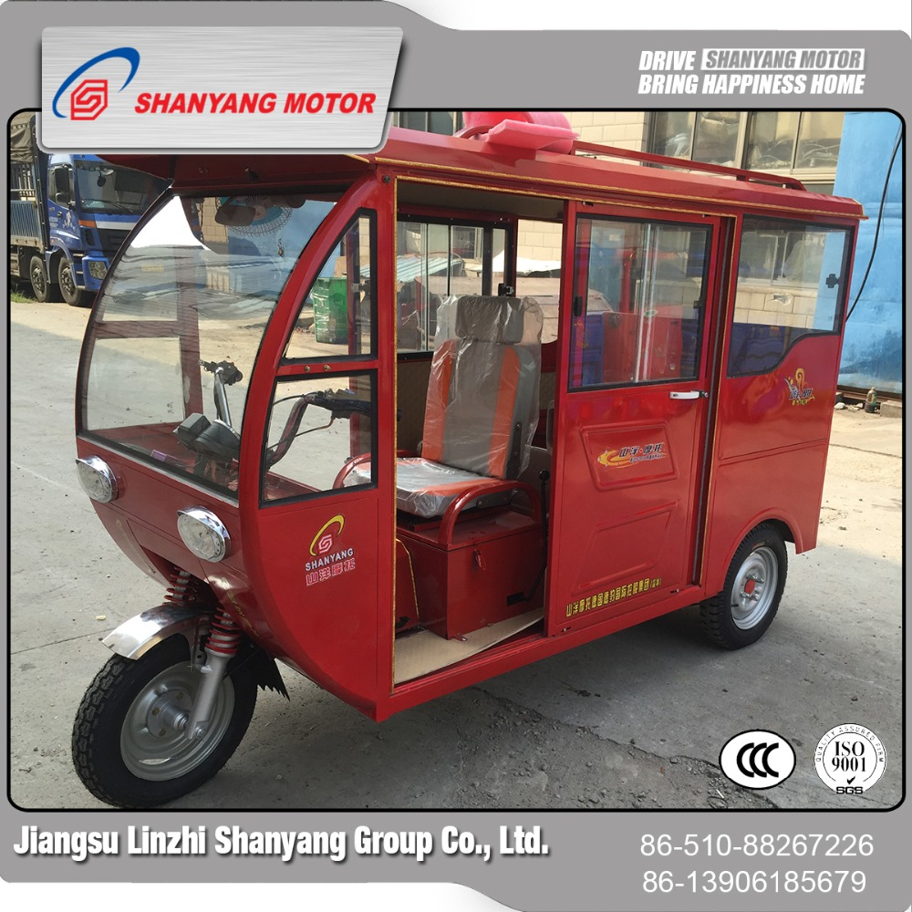 Wholesale low price high quality enclosed 150cc passenger tricycle gas scooter for disabled or old