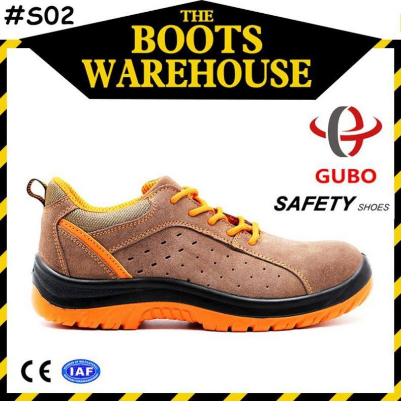 suede leather pu sole breathable sporty safety shoes for constructure