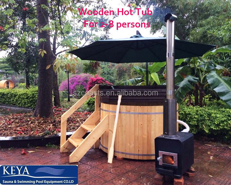 wood hot tub outer heater