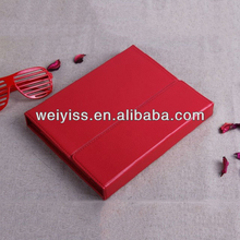 WY-TDA-119 Red Keyboard Leather Case for iPad 4 Genuine Leather