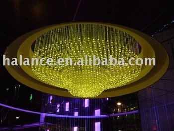 optic fiber chandelier