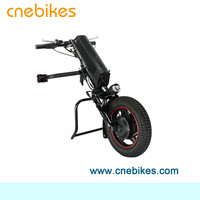 newest design attachable 36V 350W electric handcycle wheelchair handbike conversion kit