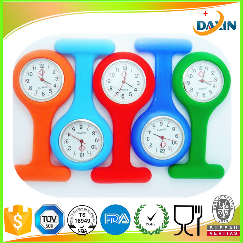 TOP convenient silicone rubber nurse watch low price wholesale