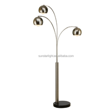 Three Heads Fish Arc Long Arm Floor Lamp / Light for living room / hotel / restaurant