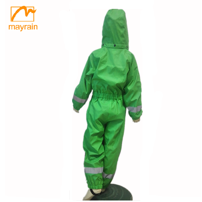 100% Kids Clothes Wholesale Children Clothing USA waterproof pu rain coverall ski wear