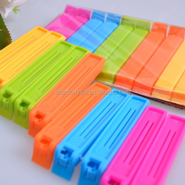 10PCS colorful food bread small plastic clips for bag