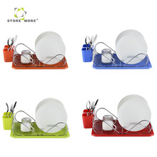 Professional Manufacture Small Metal Wire Dish Rack with Tray