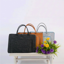 Professional manufacture cheap fancy wool felt laptop bag and case
