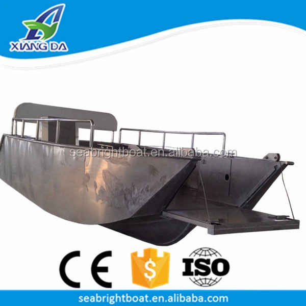 16' Foot Transport Vehicle Cargo Boat Welded Aluminum Landing Craft Tug and Barge for Sale
