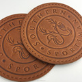 Wholesaler Brand Design Round Custom Embossed Leather Clothing Labels