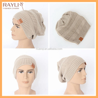 Solid color light gray plain jacquard acrylic knitted beanie hat for men, ski hat kntting pattern