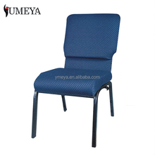Wholesale fabric church pews stackable iron chair cheap church chair