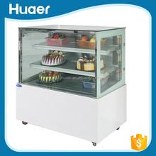 marble cake cabinet cake display refrigerator Cake Showcase Commercial Refrigerator Freezer With Glass Doors