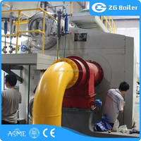 Textile, Paper, Food, Industry Used steam boiler with oil & gas fuel oilon burner