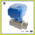 Full Port Nickel Plated Brass 2-way electric actuated ball valve for automatically control equipment
