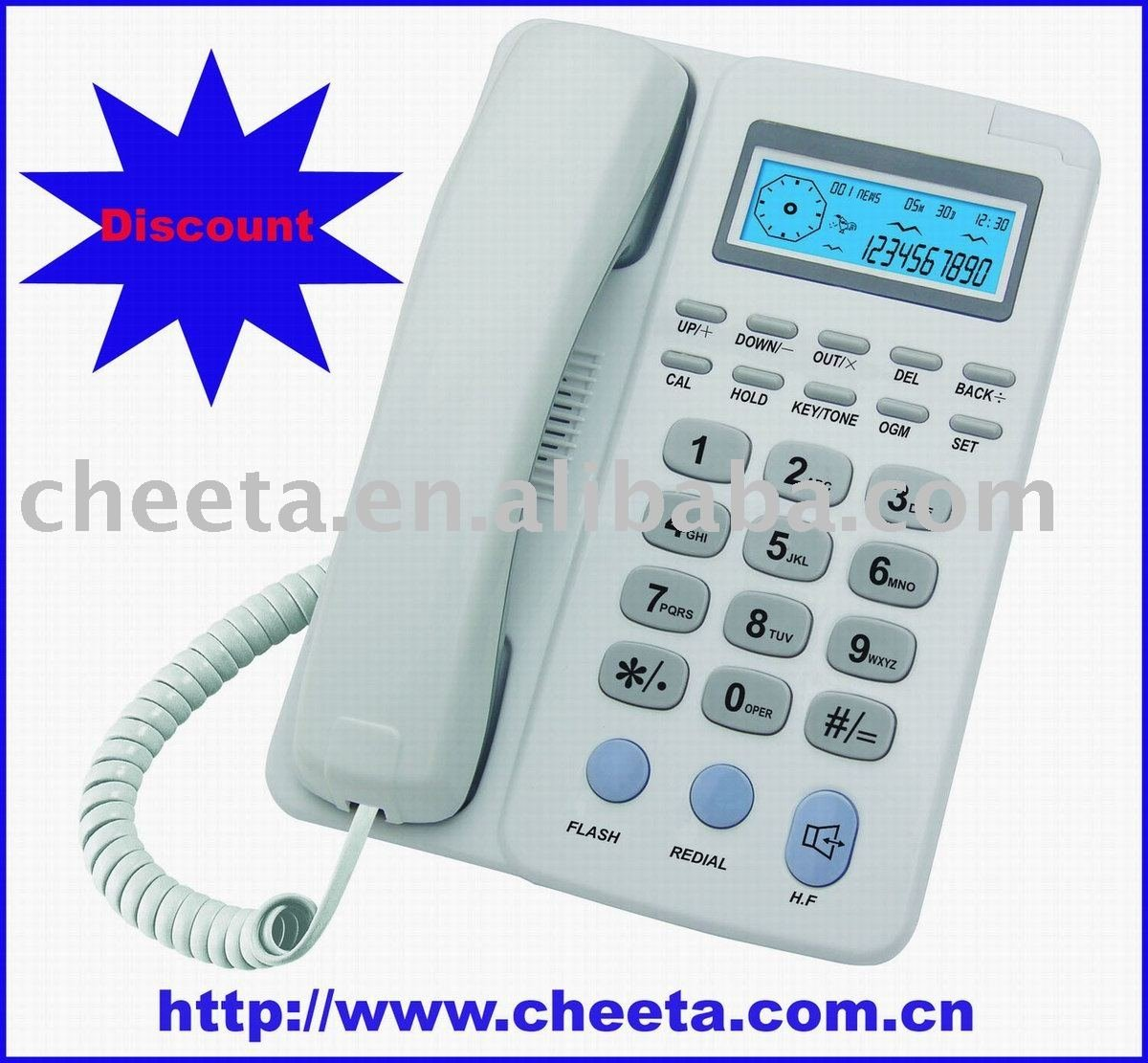 corded basic home telephone microtel