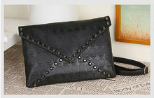 2015 high quality envelop bags studs handbags fashion luxury lady's bags