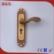 Wholesale classic design door lock <strong>hardware</strong> import door handle with plate