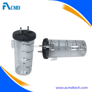 2000ml Suction Jar for Vacuum Regulator Medical Vacuum Bottle