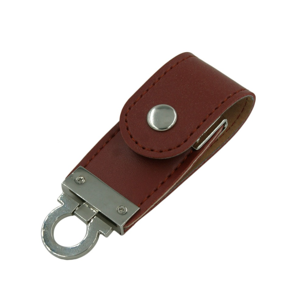 Leather keychain pendrive promotional flash drive factory price
