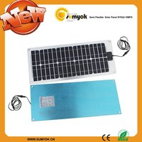 Thin and Light Semi flexible solar panel with PET and Aluminum high quality 22-18MFX