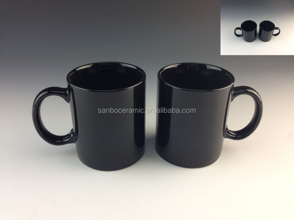 12OZ black stoneware coffee mug wholesale cheap price