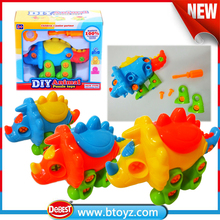 Newest education toy dinosaur take apart with tools