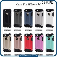 Shockproof dustproof TPU + PC 2 in 1 hybrid phone case phone back cover for iphone5c