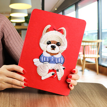 OEM anti-shock smart magnetic luxury beautiful pattern flap cute cover for air ipad 2