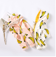 Newest design baby clothing china long sleeve roupa infantil with banana printing