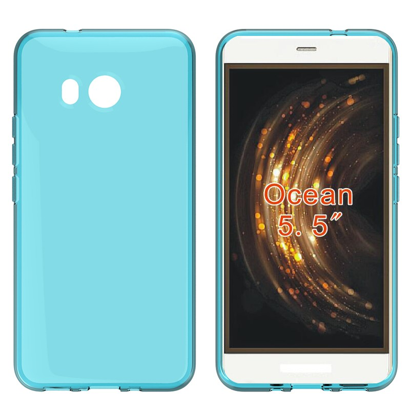 Factory Transparent Tpu Back Cover Case for HTC ocean