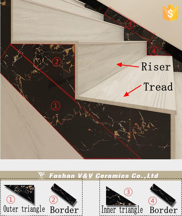 1200*300 mm Ceramic Stairs Tiles , Ceramic Stair Step Tiles