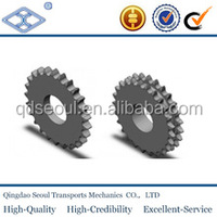 DIN ISO standard transmission taper lock sprocket 3/4''*7/16'' 45C material 17T for 12B-2 duplex roller chain