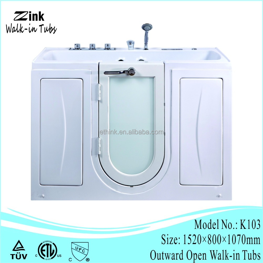 Eco-friendly feature bath tub for old people and disabled