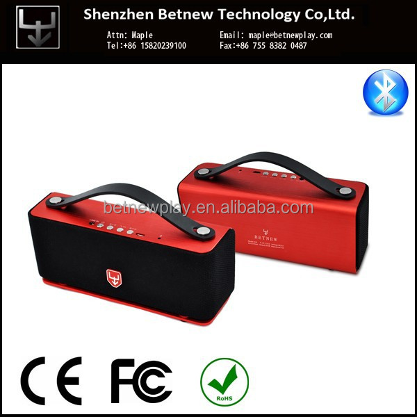 Betnew 2014 high end creative portable bluetooth speaker RED