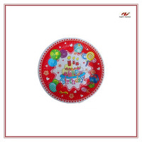 Disposable paper plates for different party theme/disposable paper plate/paper tray/ partyware