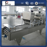 CE standard manufacture plastic cup filling sealing machine