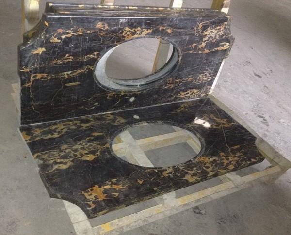 Caro italiano portoro marmol cocina encimeras de granito for Precio del marmol y granito