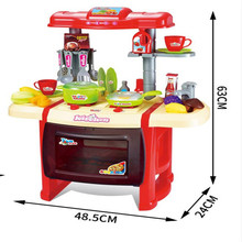 2017 New style big kitchen play set plastic kitchen toy for kids