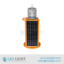 GS-MS/P GPS remote control Medium Intensity Type A Solar Power Supply Obstruction Lighting/Aircraft Warning Lights