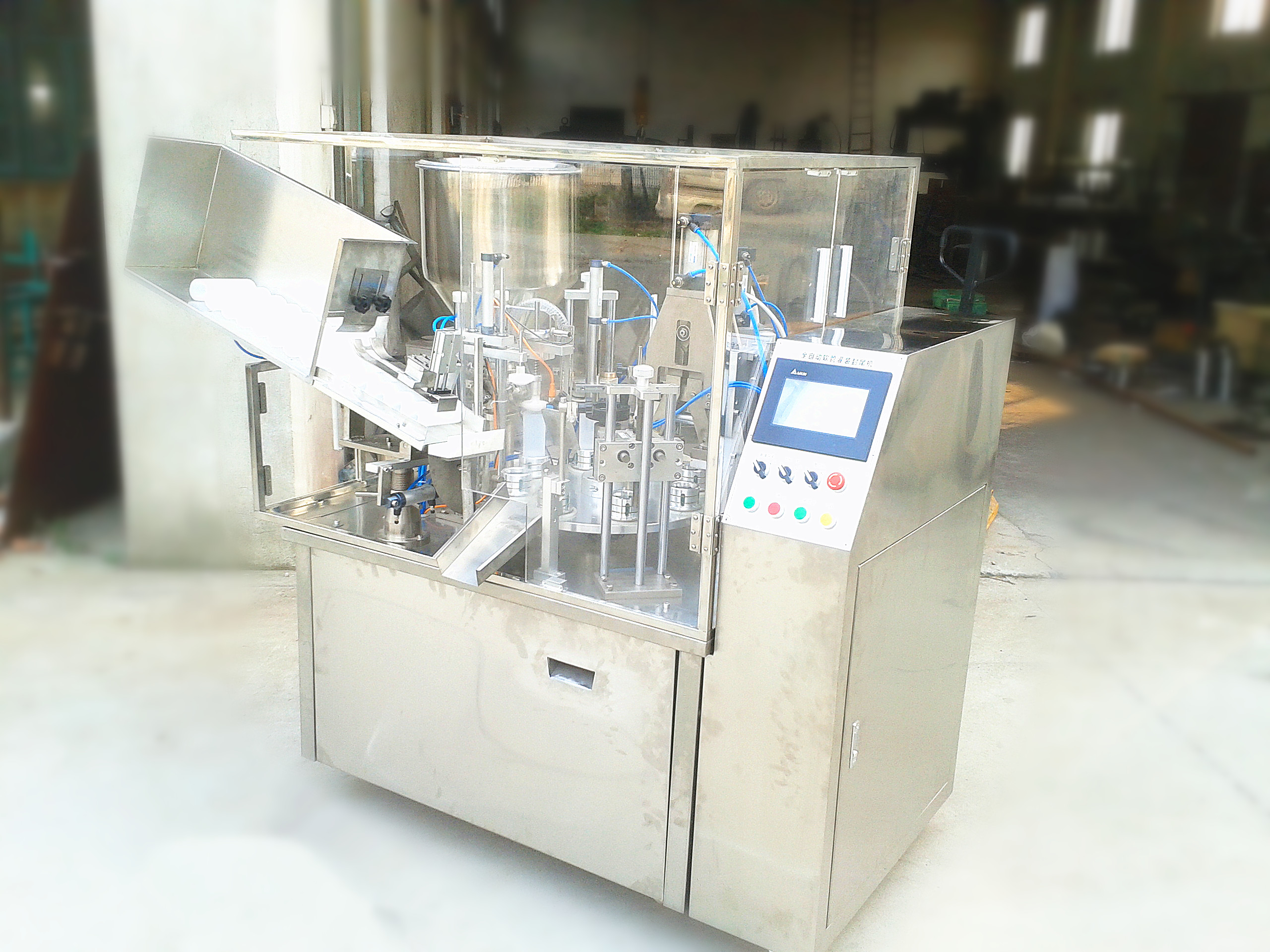 Hot selling forming tube filling sealing machine