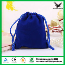 High Quality Light/Dark/Royal Blue Drawstring Velvet Pouches (directly from factory)
