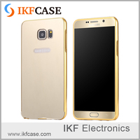 Gold Plating Aluminum Metal Frame Case For Huawei Ascend P8 Lite Mirror Acrylic Phone Back Case