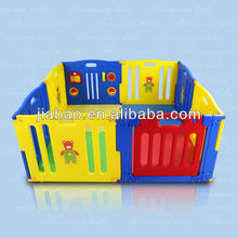 8 sides plastic luxury baby playpen & baby product & baby safety fence