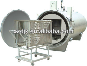 automatic rotary autoclave horizontal industrial machine