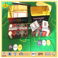 cheap custom poker chips and poker set for gambling and domino poker chips set