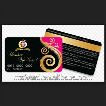 Fashion Design Standard Size Golden/Silver VIP Card