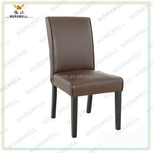 WorkWell PU leather high quality dining room chair with pine wood legs Kw-D4064